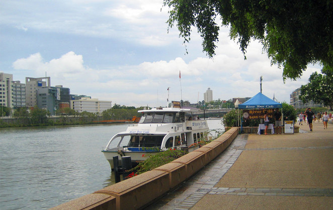 The River Tour Cafe Boat at Jetty B at South Bank