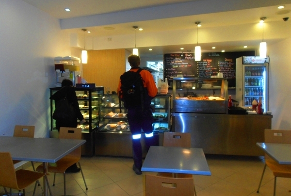 The cafe's decor is simple, modern and minimalistic, but the service is warm and friendly.