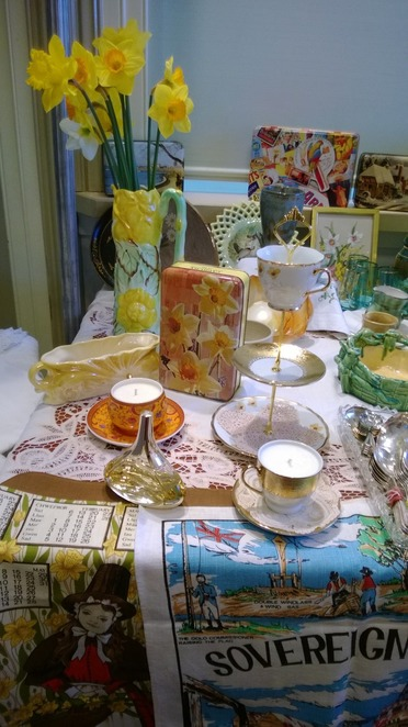 vintage antique kyneton pre-loved collections china daffodil arts festival