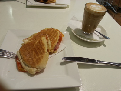 Viva's ham, cheese and tomato toasted roll makes a great winter warmer in the cold weather and is great when paired with a coffee.