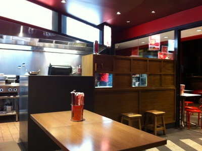You can choose from a vast menu at the counter, Wok On Inn