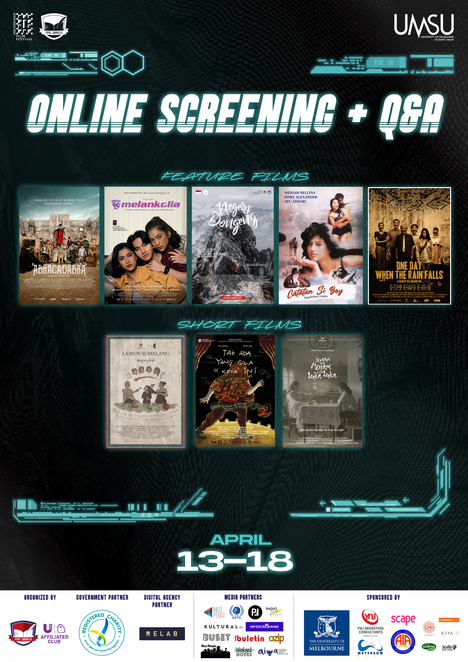 15th indonesian film festival 2021, feature films, foreign films, subtitled films, cultural event, fun things to do, community events, film festivals, online screening, abracadabra, negeri dongeng, catatan si boy, generasi 90an: melankolia, rumah dan musim hujan, one day when the rain falls, short movie collection, free live discussions of reverse angle, portrayals of ethnicity, diversity in films, breaking the cindeerella complex, how women defy stereotype in movies, birds eye view the untold story, iffaustralia 2021, workshops at the indonesian film festival 2021, community event, fun things to do, spectroom, illuminate the magic behind the big screen, orchestrating sounds behind motion pictures, audio, scriptwriting, editing, cinematography, the rollercoaster of storytelling, walking in the shoes of an editor, through the eyes of a visual storyteller, greg arya, ical tanjung, gina s noer, dan johnston, iff 2021 webinar workshop, online workshops at indonesian film festival, foreign films, subtitled films,