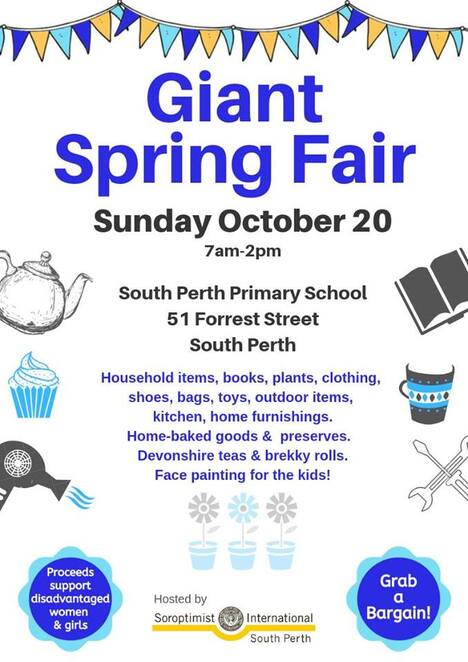 free, giant spring fair, south perth primary school, fun, kids, children, families, food, activities, entertainment