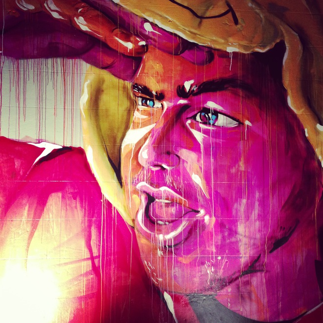 art, street art, graffiti, portrait, chippendale, sydney, beams