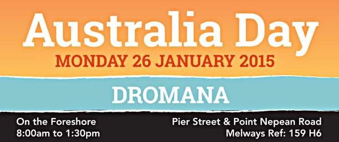 australia day, dromana, photographiic competition, free breakfast, ron vincent as cat stevens, hip cat circus workshops