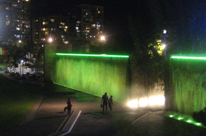 Roma Street Parklands is a great place to barbecue during the day and at night