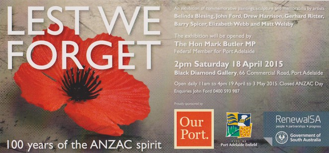 Lest We Forget - 100Years of the ANZAC Spirit Exhibition