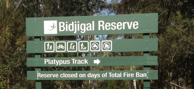 Bidjigal Reserve welcome