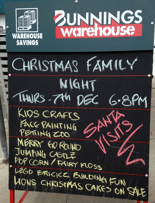 christmas events, canberra, bunnings, tuggeranong, ACT,