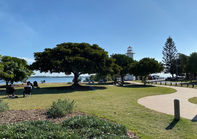 The Cleveland Point Reserve is ideal for patrons of The Lighthouse to bring their own chairs or blankets down for a picnic overlooking beautiful Moreton Bay