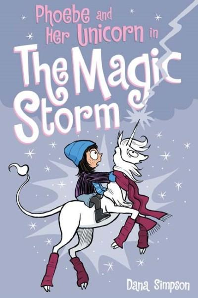 dana simpson, phoebe and her unicorn, comic books for kids, kids comics, unicorns, calvin and hobbes, Phoebe and Her Unicorn and the Magic Storm