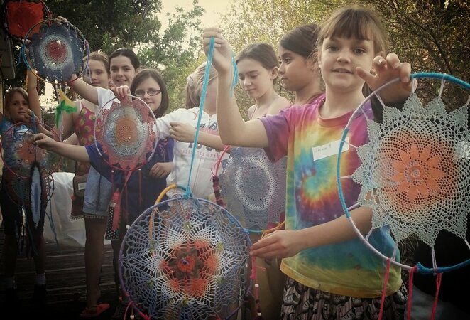 dream catchers, kids, workshop