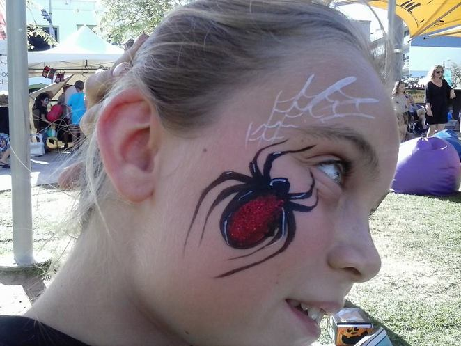 halloween scream, whiteman park, halloween party, things to do for halloween, halloween events perth, red back face paint