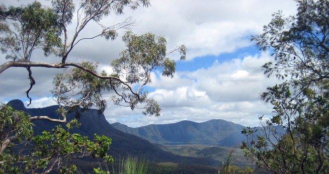 The view from the Mt Mathieson Track