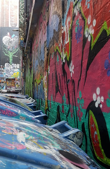 Hosier Lane, street art, Melbourne, walking tour