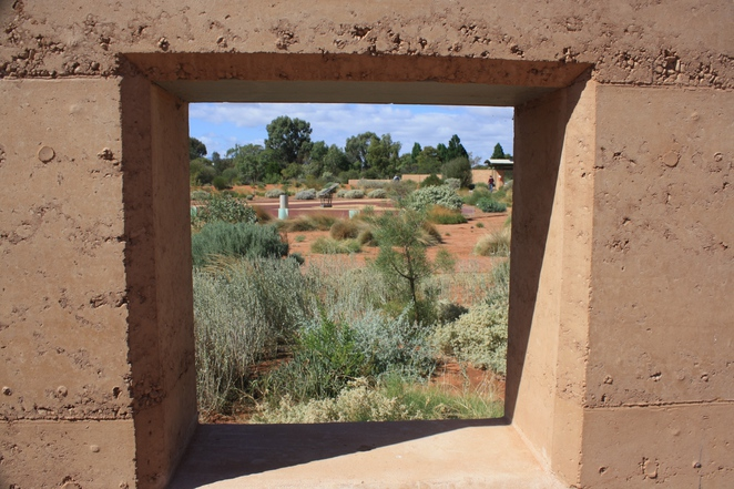 Gorgeous Rammed Earth Walls – a building and landscape feature. Photo Jenny Esots