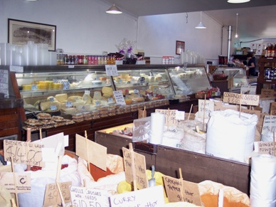 The deli and some of the wide selection of loose dry goods at Kakulas Brothers.