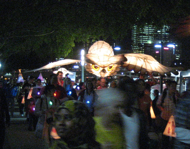 The procession for the Luminous Lantern Parade at South Bank