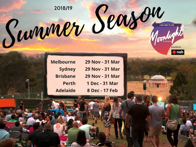 moonlight cinema 2018, community event, fun things to do, family fun, outdoor cinema, cinema in the park, cinema, movie lovers, performing arts, entertainment, date night, night life, summer film program, moonlight summer season, movies and picnic, perfect night out, family fun