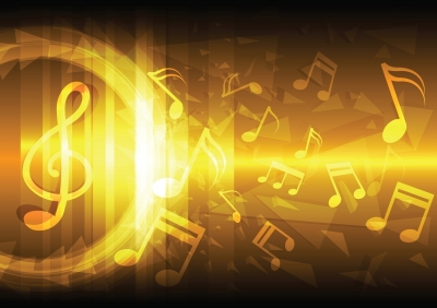 musical notes,yellow