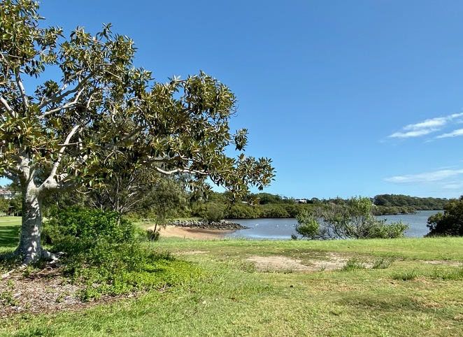 This little beach has lovely sand for kids to play in at high tide, and mangroves to explore at low tide