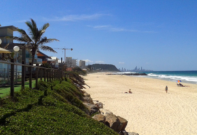 Palm beach is just to the north of Currumbin Creek
