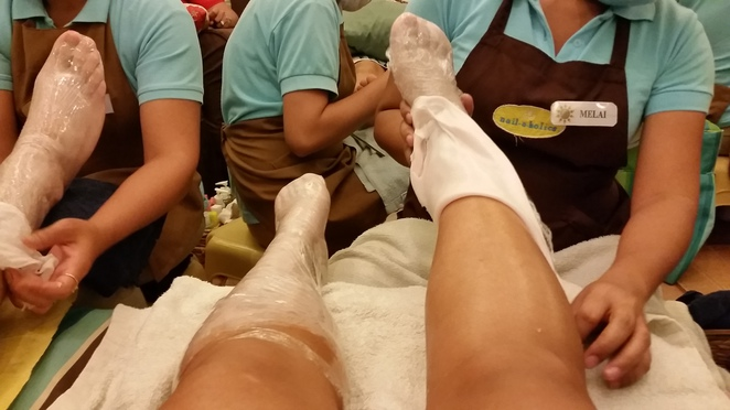 paraffin, pedicure, foot treatment, mall of asia, philippines