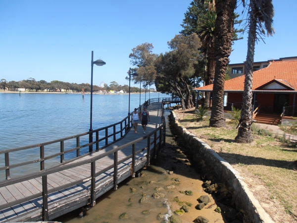 There are cycle paths around most of Mandurah's foreshore.