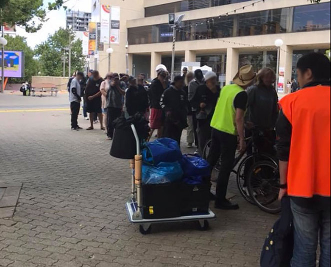 Perth Homeless Support Group Family Mini Golf Event City Walks to give out Care Packs