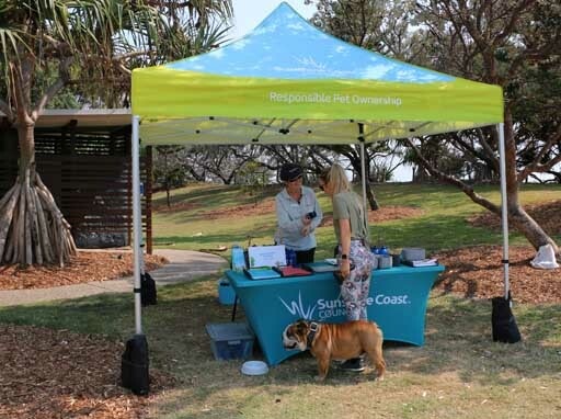 Responsible pet ownership, pop up booths, free events, dog and cat ownership, enjoy pets at home, where to exercise dogs in public, keep pets safe, keep local wildlife safe, pet registration, microchipping, dog waste, bagitandbinit, barking dog concerns, on and off leash areas, Parreara, Buddina, Point Cartwright, Twin Waters, Bokarina, Stumers Creek, Coolum Beach, Currimundi, your pet, your responsibility