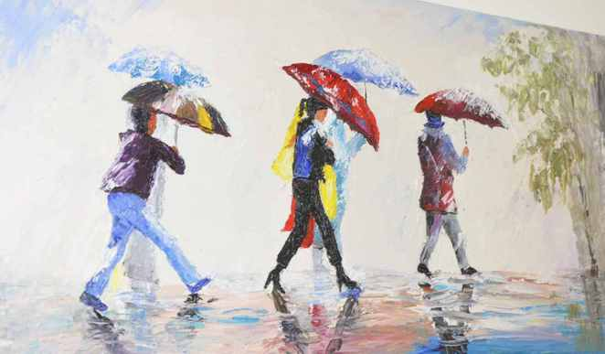 Singing in the rain art