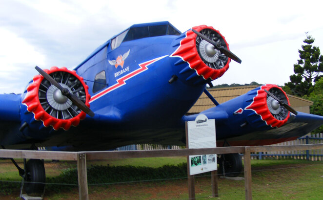 The replica of the Stinson aircraft that crashed in 1930s