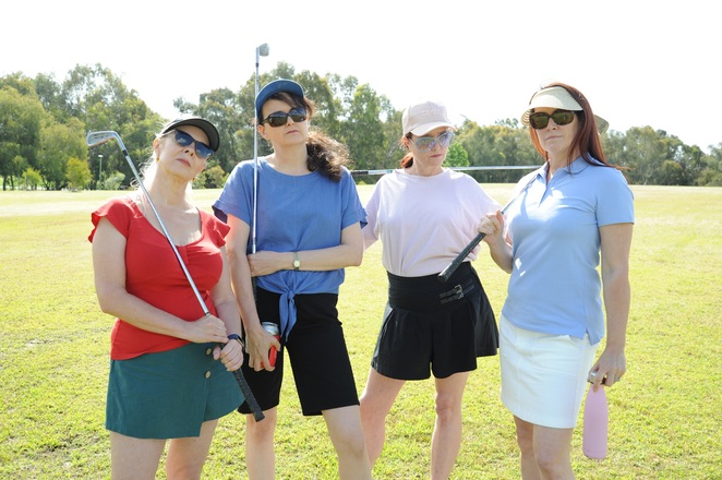 The Ladies Foursome, Harbour Theatre, performing arts, Sex and the City, golf, Norm Foster, stage, acting, comedy