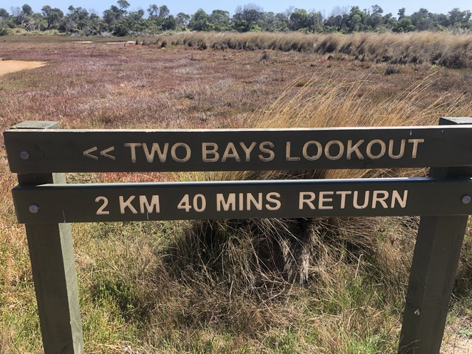 Two-Bays Lookout sign