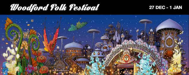 Woodford Folk Festival 16/17, 27 December 2016 to 1 January 2017, six days and nights, cultural, music, arts and performance, two thousand performers, thirty-five venues, 438 acts, concerts, dance, indigenous performances, theatre, comedy, film, street performances, visual arts, sustainability forums, family festival, accessible to the deaf community, once-a-year event, workshops, bars, cafes, restaurants, woodfordian spirit