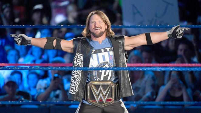 WWE, wrestling, Super show-down, melbourne, mcg, aj styles, smackdown