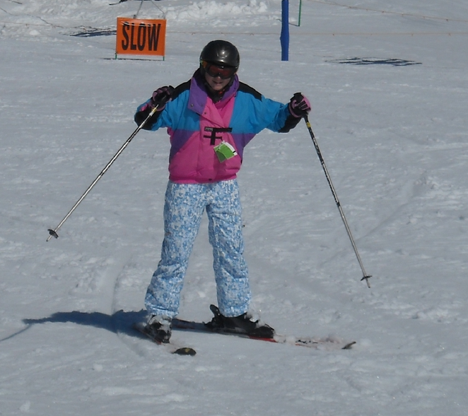 You are never to young or old to learn to ski - Photo Tricia Ziemer