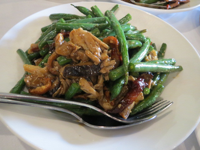 Yue Chinese Restaurant, String Bean with Shredded Duck and Chinse Mushrooms, Adelaide