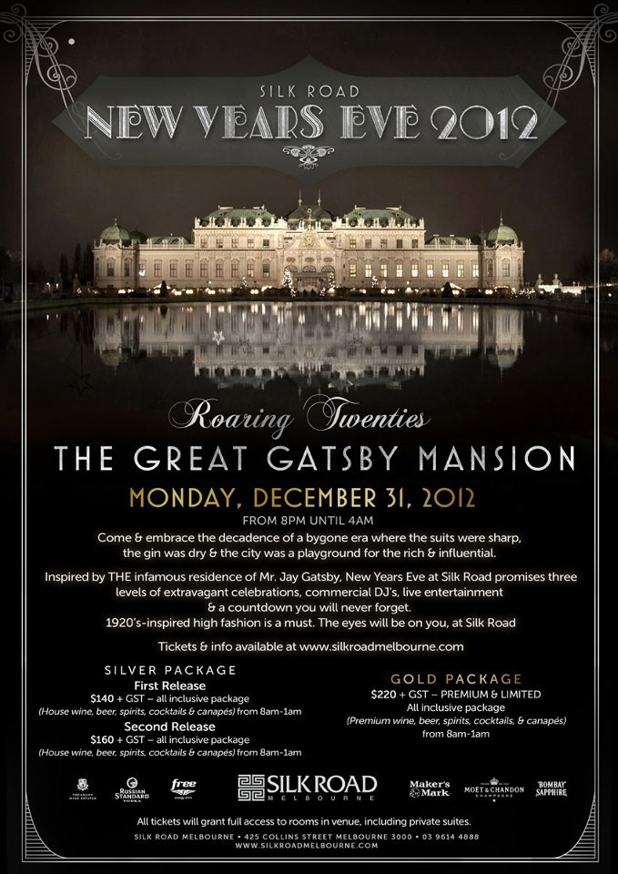 New Years Eve at the Great Gatsby Mansion - Melbourne
