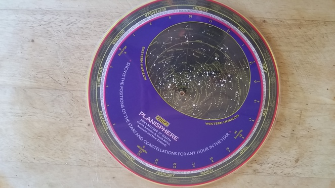 A star chart or planisphere.