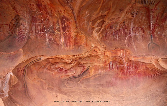 Aboriginal rock art Arkaroo Flinders Ranges