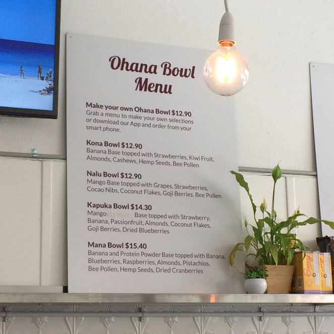 acai, acai bowl, Ohana, fremantle, superfood