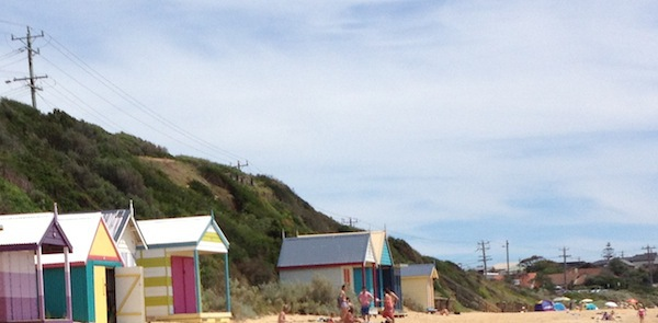 Beach boxes of Mothers beach Mornington