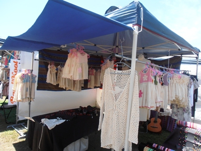Beautiful handmade children's clothing at Byron Bay Community Markets.