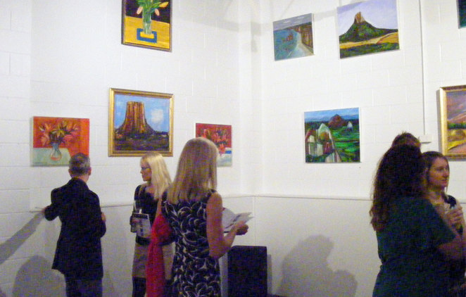 At the exhibition on opening night