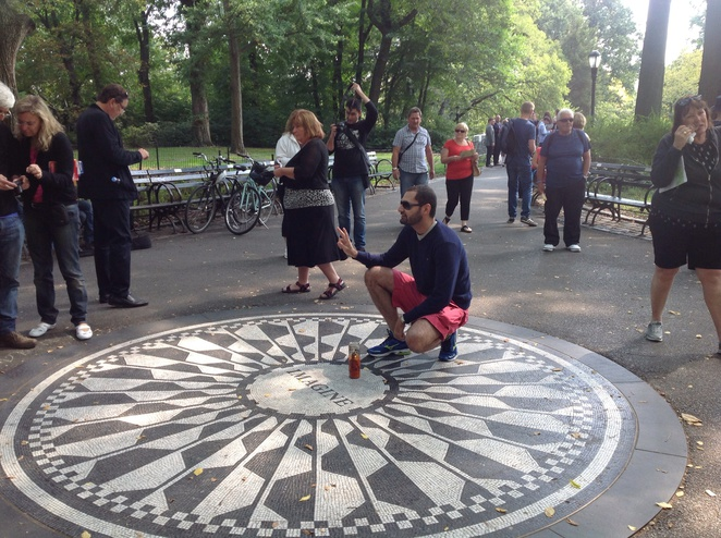 Central Park strawberry fields John Lennon