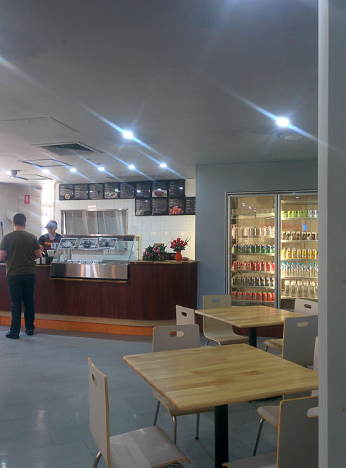 The service area at Chinese BBQ Heaven, ANZAC Square