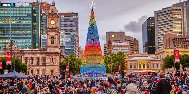 city of adelaide christmas december