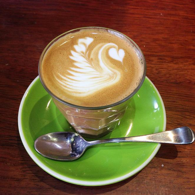 coffee, latte art, cafe, bean round town, newtown, king street, sydney