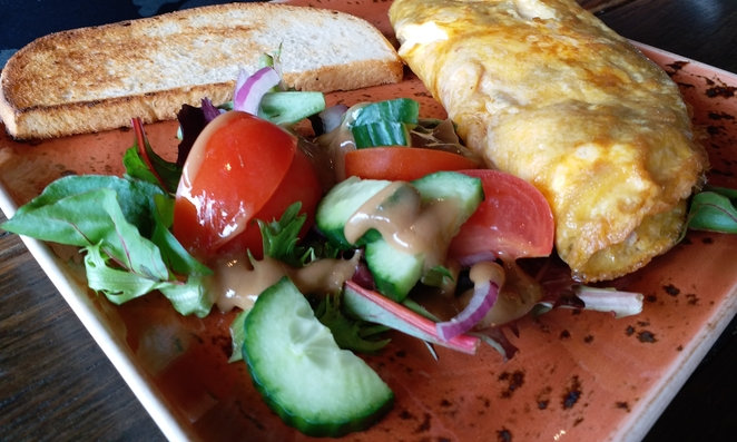 A delicious omelette. Photo credit: Aridhi Anderson.